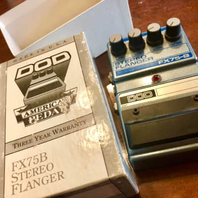 Dod FX75B Stereo Flanger pedal 1990 Silver for sale
