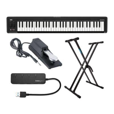 Korg microKEY 61-Key Compact MIDI Keyboard Bundle with Double-X Keyboard Stand