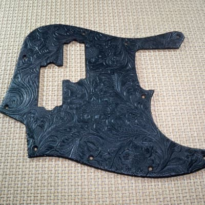 embossed country western tolex pickguard for us/mex fender blacktop jazz bass