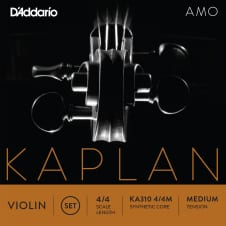D'Addario KA31044M Kaplan Amo Violin String Set, 4/4 Scale, Medium Tension