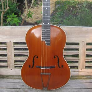 ed lang cello guitar 1930 red brown varnish for sale