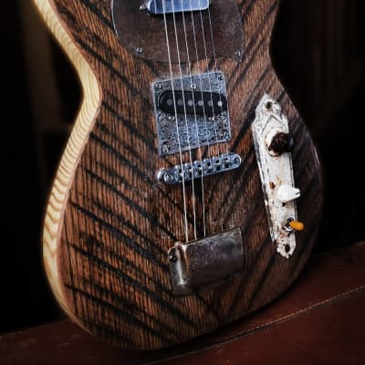 Postal Handmade Cross Road Barnwood from the Delta Distressed  T Type Pickups Locking Tuners for sale