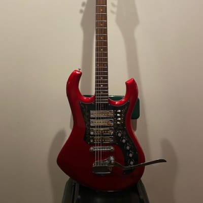Kimberly  1960s.... red with 4 gold foil pickups for sale
