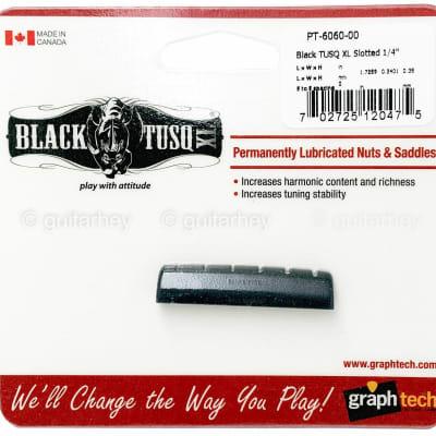NEW Graph Tech TUSQ XL Slotted NUT 44 x 6.14 x 9.19mm PT-6060-00 - BLACK