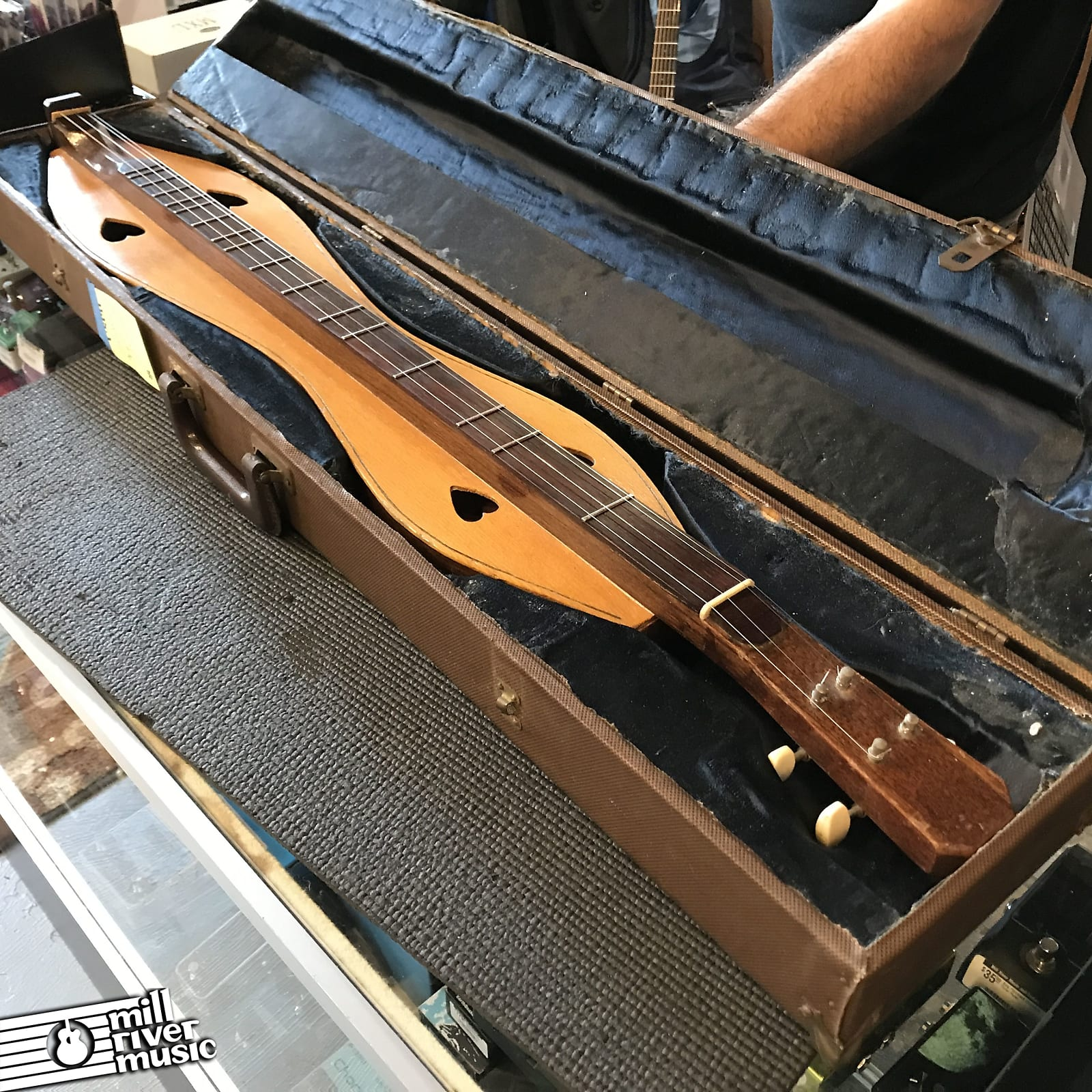 Custom Made Appalachian Dulcimer c. 1960s-70s w/ Case