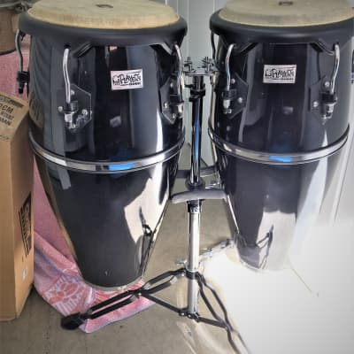 Toca Players Series Congas w/Stand 90's Black Laquer