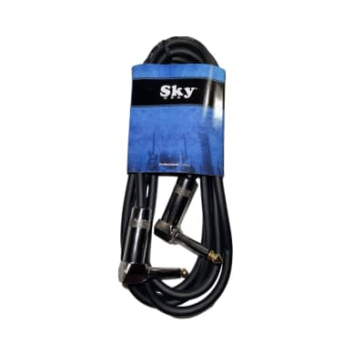 New Sky USA 6 Foot 1/4 Inch Right Angle to Right Angle Patch Instrument Cable - 1 PACK