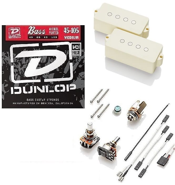 EMG PVA2 HZ IVORY P BASS 4 STRING PASSIVE PRECISION PICKUP ALNICO 2 MAGNETS  PAV2 ( BASS STRINGS )