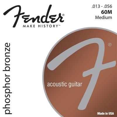 Fender 60M Phospher Bronze Acoustic Guitar Strings, .13 - .56