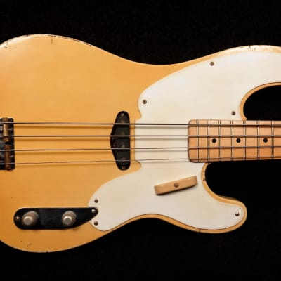 RebelRelic 1955 P-Series Butterscotch Precision bass model for sale