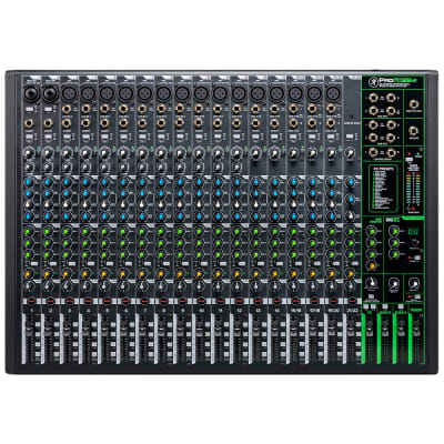 Mackie ProFX22V3 Mixer, 17 Onyx Mic Pres, 12 Compressors, GigFX Effects Engine
