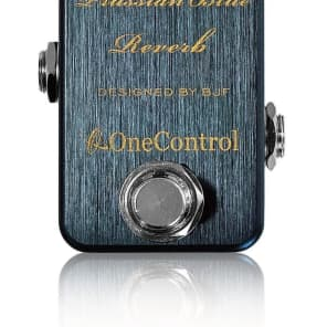 One Control BJF Designed Prussian Blue Reverb pedal for sale