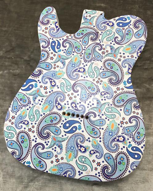 Custom Blue Burst Paisley Bakelite Pickguard Fender® Telecaster® Tele® 8 hole