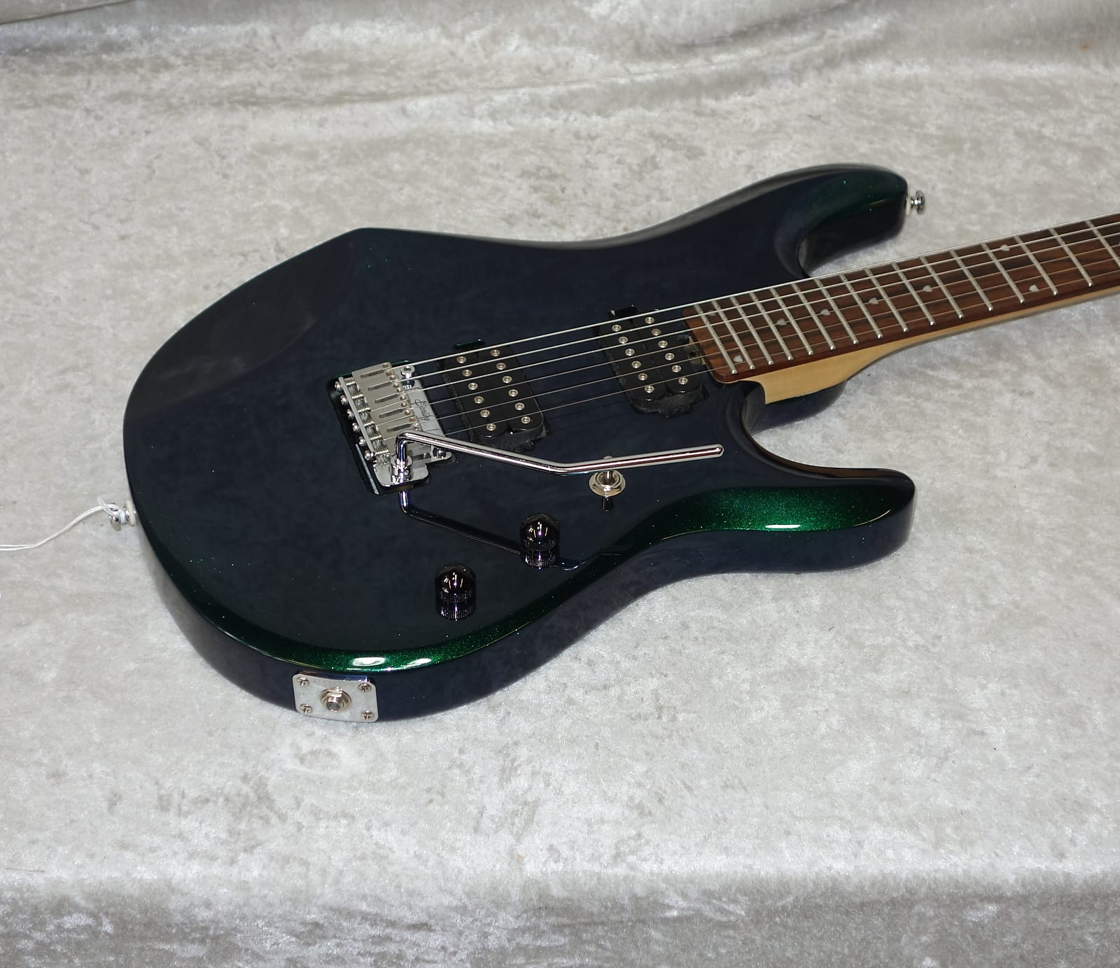 sterling by music man jp60 john petrucci electric guitar in mystic green finish. Black Bedroom Furniture Sets. Home Design Ideas