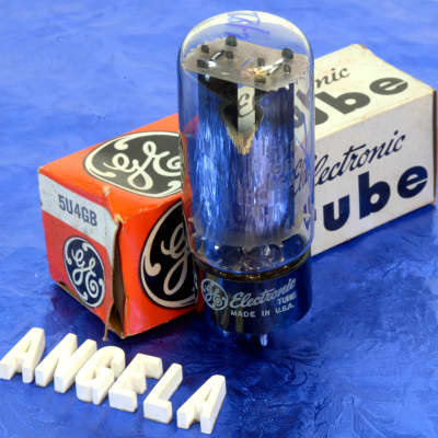 General Electric '70s Vintage New Old Stock 5U4GB Rectifier Tube For Fender Amps GE for sale