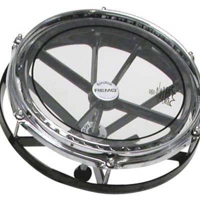 REMO - Roto Tom Black 10 con pelle Controlled Sound trasparente