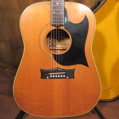 1969 Grammer G58 Dreadnought Acoustic Guitar With Chipboard Case for sale