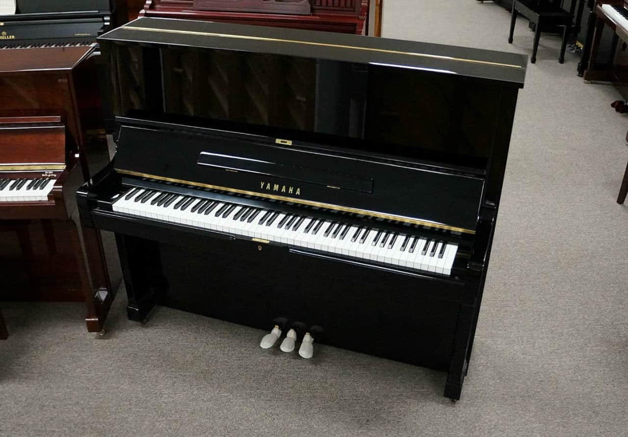 Yamaha u2 upright piano black polish jim laabs music for Yamaha upright piano models