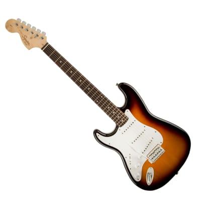 Left-Handed Squier Affinity Stratocaster Electric Guitar - Brown Sunburst for sale