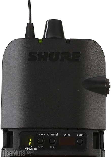 shure p3tr112gr wireless in ear monitor system h20 band reverb. Black Bedroom Furniture Sets. Home Design Ideas