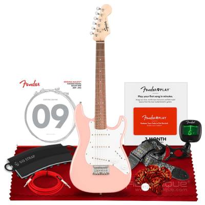 Squier by Fender Mini Stratocaster Electric Guitar, Laurel Fingerboard