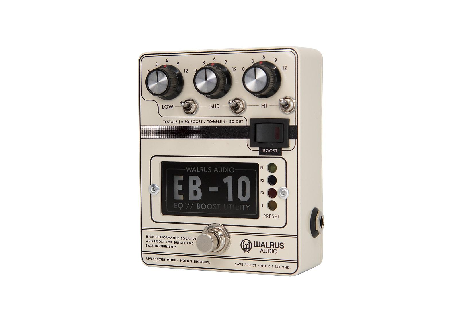 Walrus Audio EB-10 Preamp / EQ / Boost Effects Pedal (Cream)