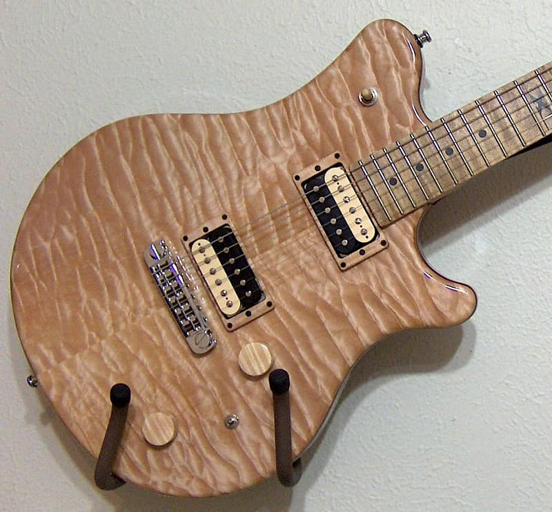 2013 Guilford Ty Tabor Quilted Maple solid body electric guitar with Lindy Fralin Pure PAF pickups image