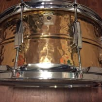"Ludwig 6.5x14"" Hammered Bronze Snare Drum 1990s image"