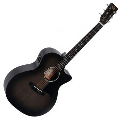Sigma GMC-STE Grand Electro Acoustic Guitar - Blackburst for sale
