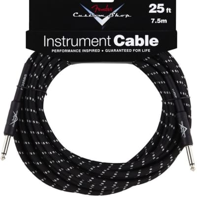 Fender Custom Shop Performance Series Cable, 25', Black for sale