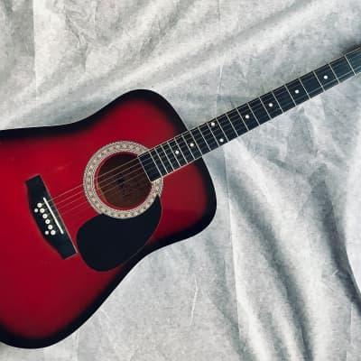 "ESTEBAN By Burswood 40"" Dreadnought Style Acoustic Guitar Fair Condition for sale"