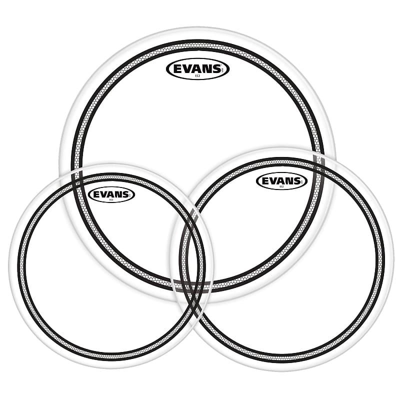 evans ec2 clear standard drum head pack 12 13 reverb. Black Bedroom Furniture Sets. Home Design Ideas