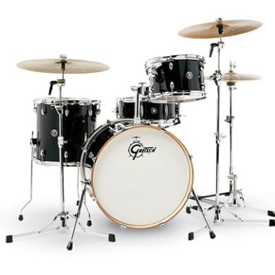Gretsch Catalina Club 4-Piece Drum Set (20/12/14/14sn)- Piano Black