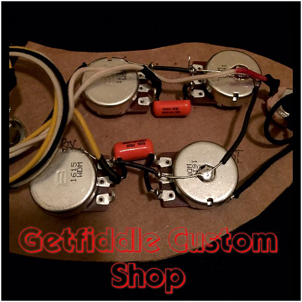 Upgraded Fender Telecaster Custom 50\'s Style Wiring Harness | Reverb