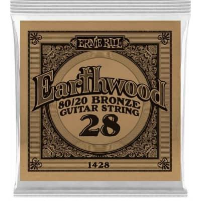 Ernie Ball P01428 .028 Earthwood 80/20 Bronze Acoustic Guitar String
