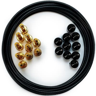 George L/'s 155 Guitar Pedal Cable Kit .155 Blue 10//10//5 Blue Nickel