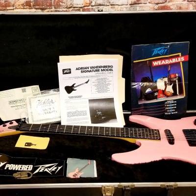 Peavey Vandenberg 1988 Rock It Pink Rare Early Production OHSC Kahler for sale