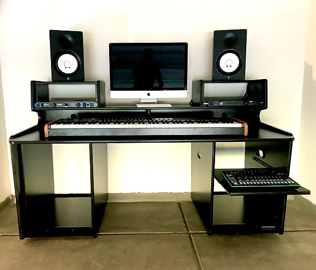 Omnirax Prostation Music Workstation Desk Black Reverb