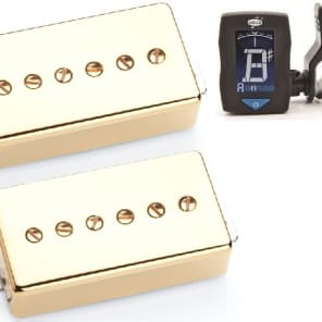Seymour Duncan Phat Cat Gold Cover Set SPH90-1b /& SPH90-1n FENDER 18FT CABLE