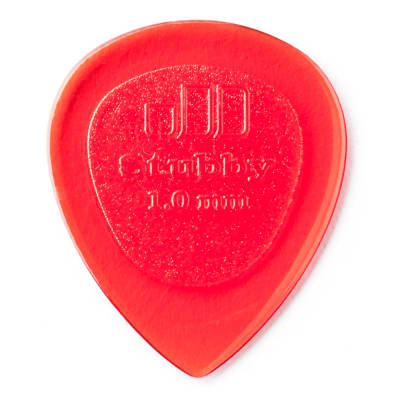 Dunlop 1.0mm Stubby Pick (6-Pack)