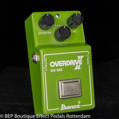 """Ibanez OD-855 Overdrive II 1981 s/n 135246 Japan  RC4558P Malaysia op amp, """"R"""" Logo and Lock on Nut"""