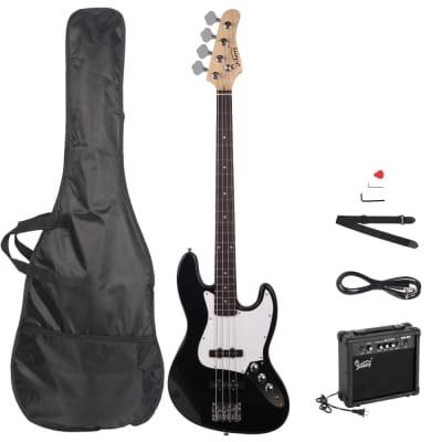 Glarry Glarry GJazz Electric Bass Guitar w/ 20W Electric Bass Amplifier Black 2021 Black for sale