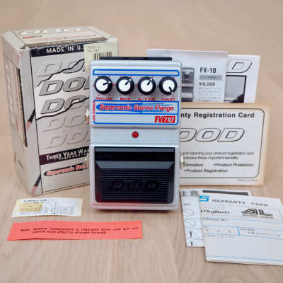 1990s DOD FX747 Supersonic Stereo Flanger Guitar Effects Pedal USA-Made, Jason Lamb w/ Box, Papers for sale