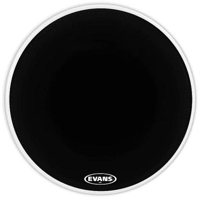 "Evans BD20MX2B MX2 Black Marching Bass Drum Head - 20"""