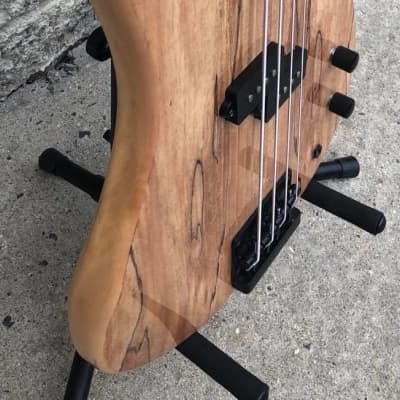 GAMMA Custom Bass Guitar PF21-03, Fretless Alpha Model, Spalted Maple for sale