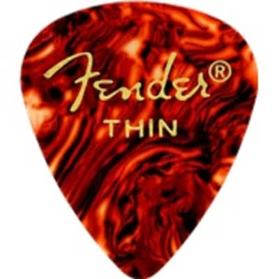 Fender Classic Shell Thin Picks, 12-pack for sale