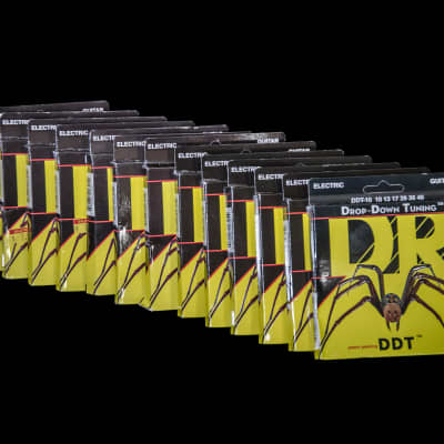 DR 2-DDT-10 Drop-Down Tuning Electric Guitar Strings, Lot of 13