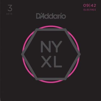 D'Addario NYXL0942-3P Strings 3pk