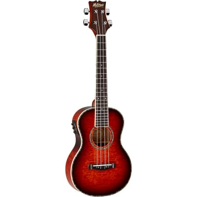 Mitchell MUT80XE-QAB-WSK Exotic Acoustic Electric Ukulele Quilt Ash Burl Regular Whiskey for sale