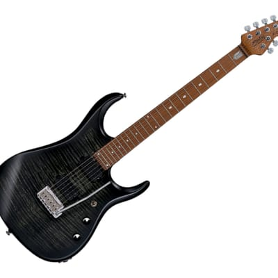 Sterling by Music Man JP15, Flame Maple Top, Trans Black Satin - B-Stock for sale